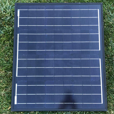 ACOPOWER 50 Watts All Black Mono Solar Panel, 12V Solar Panels Lights Your Life