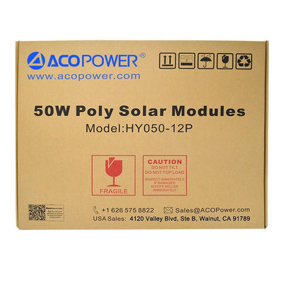 ACOPOWER 50 Watts Poly Solar Panel, 12V Solar Panels Lights Your Life