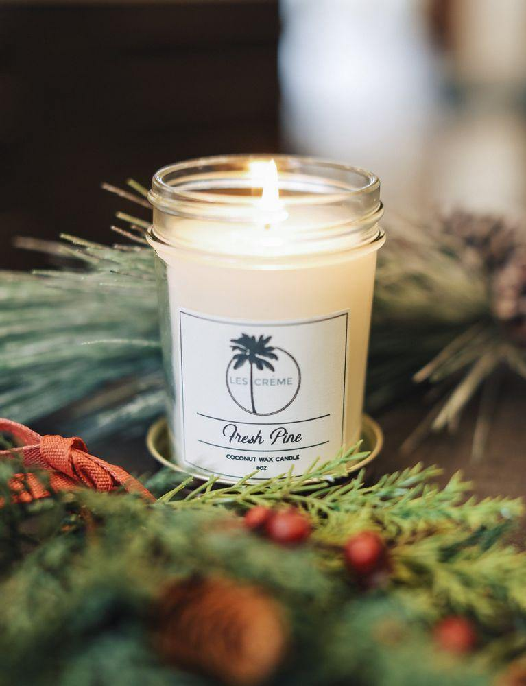 Coconut Wax Candle Fresh Pine Scent CANDLES Lights Your Life 8oz Travel Tin