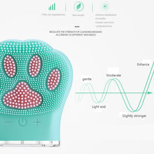 Load image into Gallery viewer, Cat Paw Rechargeable Silicone Face Cleaning Brush Mini Brush - casaxfit