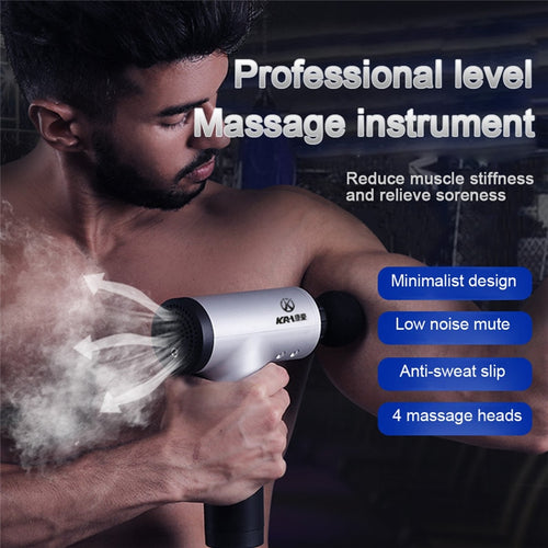 CasaXFit Electric Massage Fascia Gun Muscle Meridian Depth Relief Soreness Relaxation Massage Instrument Vibration Impact Gun - casaxfit