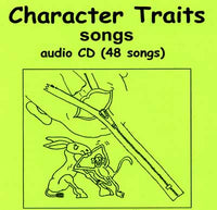 Character Traits Coloring Book and Songs