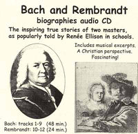 Bach and Rembrandt Biographies (audio CD)