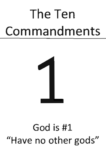 Ten Commandments picture booklet