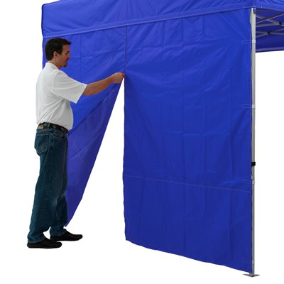 10' Middle Zipper Sidewall 500 Denier Polyester - Impact Canopies USA