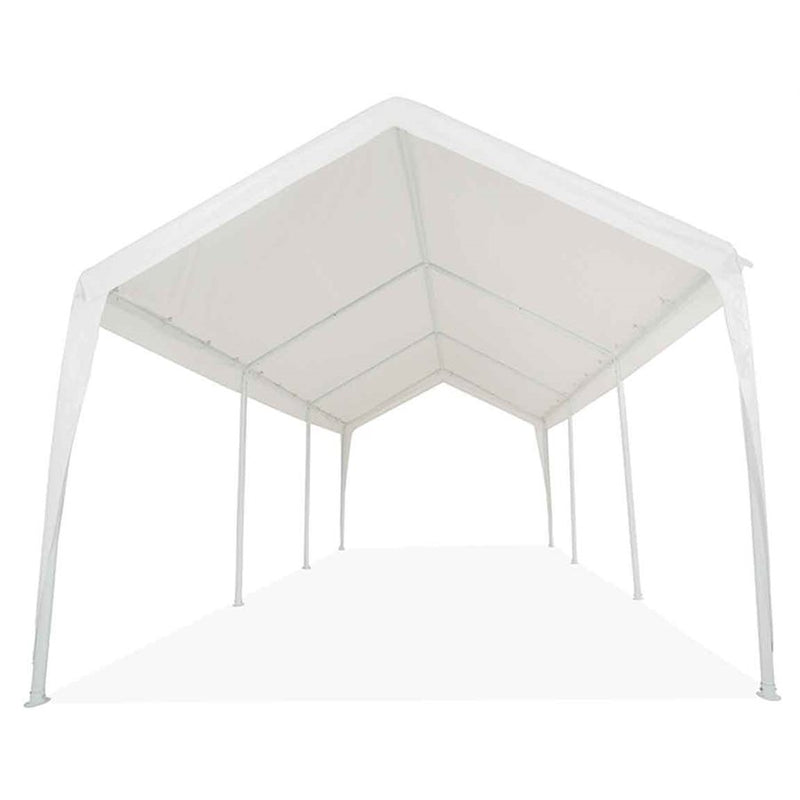 "10x20 (8) Leg Portable Carport Outdoor Party Sun Shade Shelter - WHITE - Heavy Duty 2"" Frame - Impact Canopies USA"