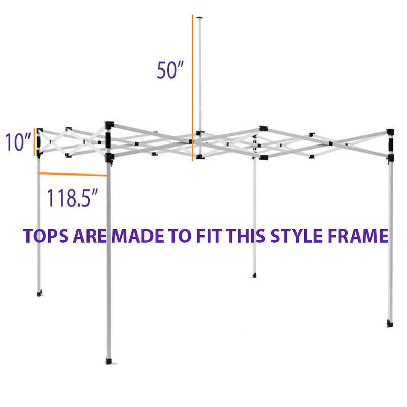 10x10 Pop Up Canopy Tent Replacement Top