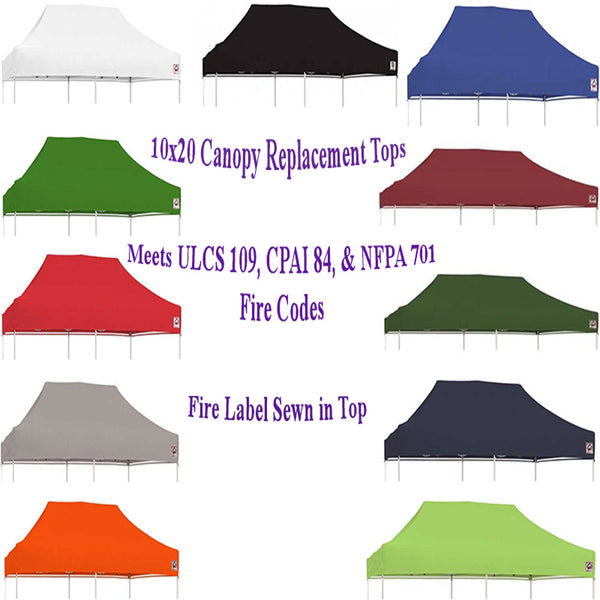 10x20 Pop Up Canopy Tent Replacement Top