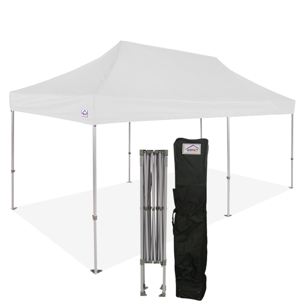 10x20 Industrial Aluminum Pop up Canopy Tent with Roller Bag - ML