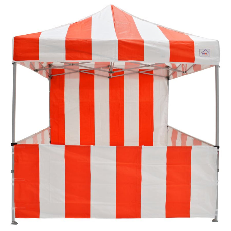8x8 Carnival Pop Up Canopy Kit - Red & White Striped - Impact Canopies USA