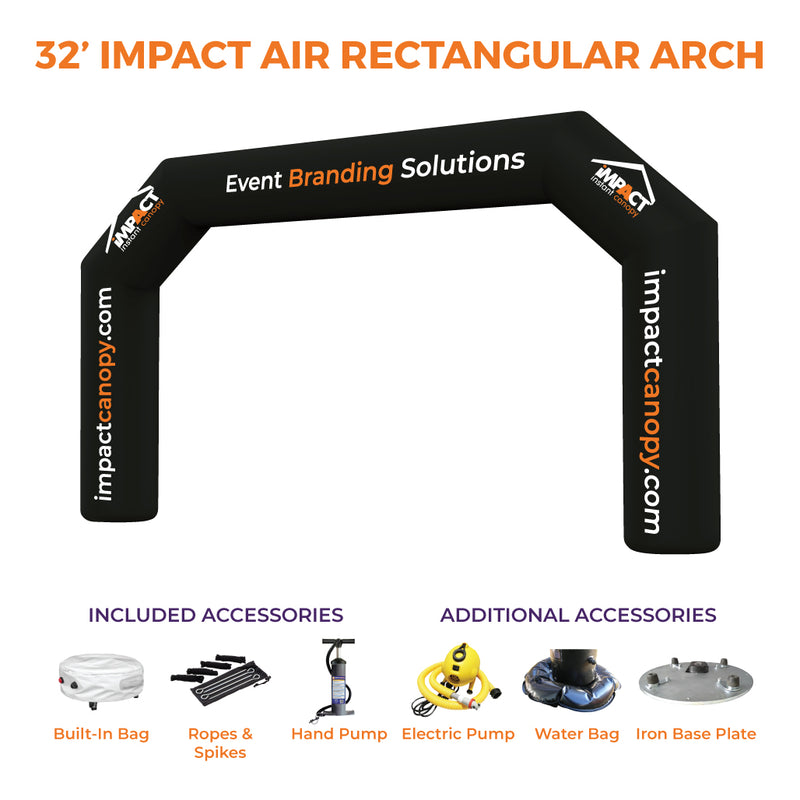 Custom Printed Impact Air Rectangular Inflatable Arch