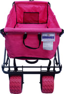 CLEARANCE - All-Terrain Folding Wagon Collapsible Beach Cart - Standard Size - Pink