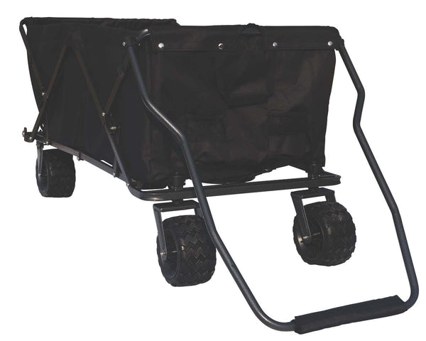OPEN BOX - Black All-Terrain EXTRA LARGE Folding Wagon Collapsible Beach Cart