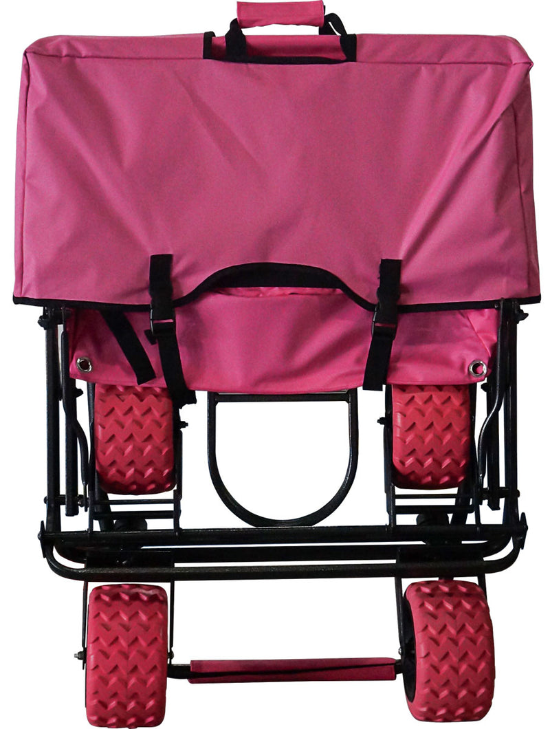 Pink All-Terrain EXTRA LARGE Folding Wagon Collapsible Beach Cart