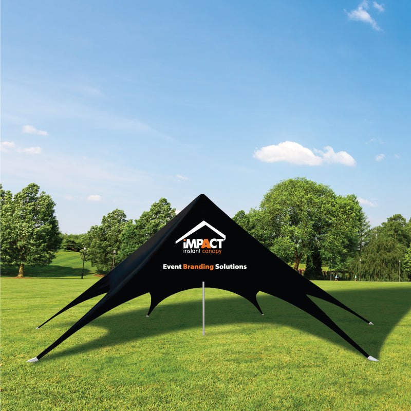 Custom Printed Aluminum Single Pole Spider Canopy