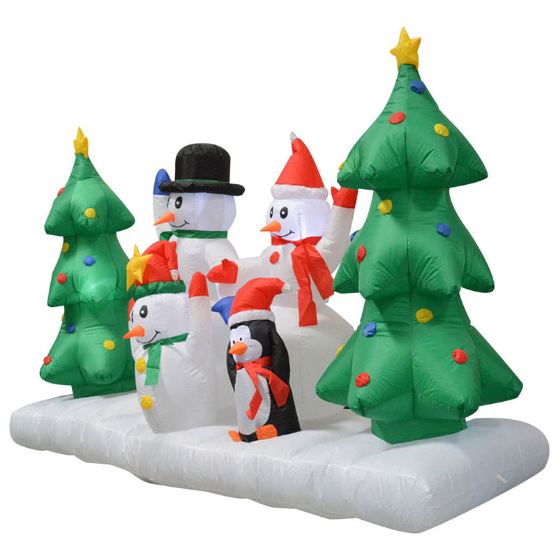 Inflatable Yard Christmas Decoration, Lighted Snowman Family, 8' Wide - 5' Tall - Impact Canopies USA