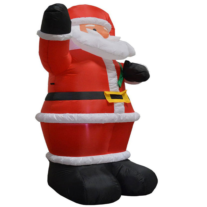 Inflatable Yard Christmas Decoration, Santa with Gift Bag - 8' Tall - 4' Base - Impact Canopies USA