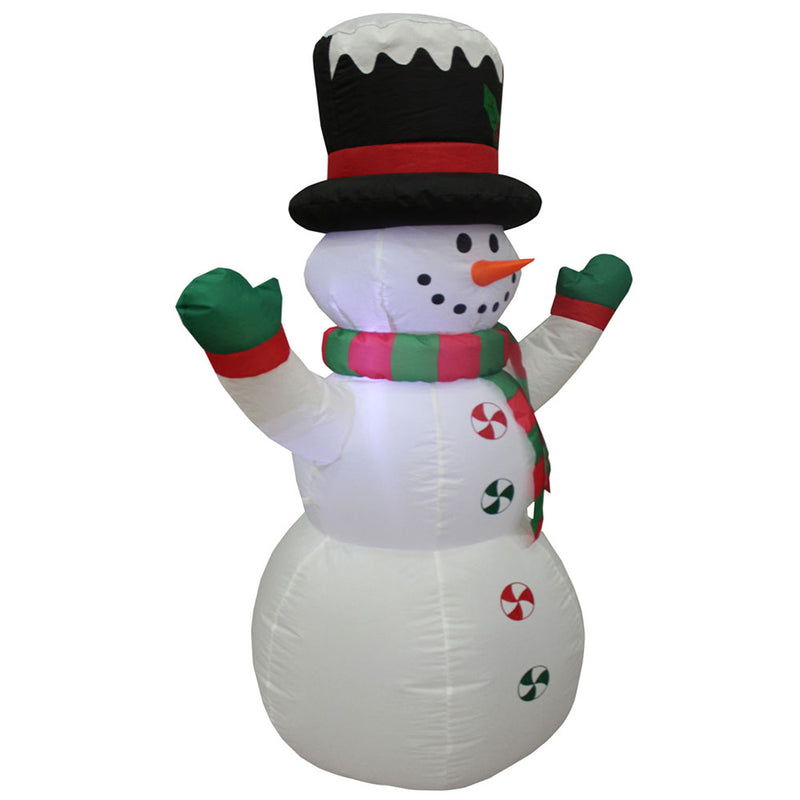 Inflatable Yard Christmas Decoration, Frosty the Snowman, 4' Tall - Impact Canopies USA