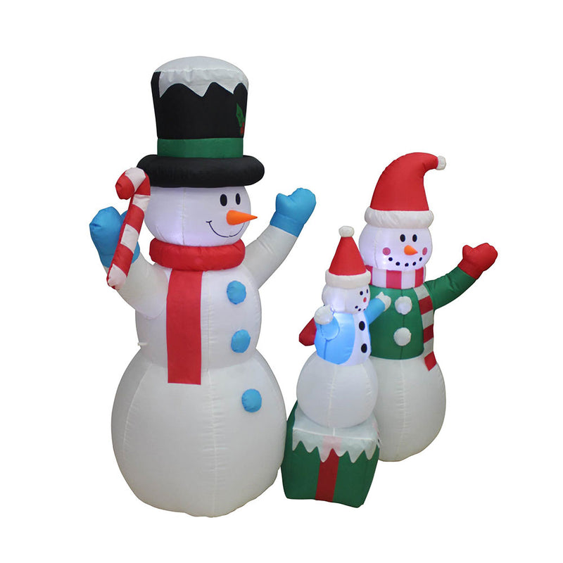 Inflatable Yard Christmas Decoration, Snowman Family - 5' Tall - 5' Wide - Impact Canopies USA