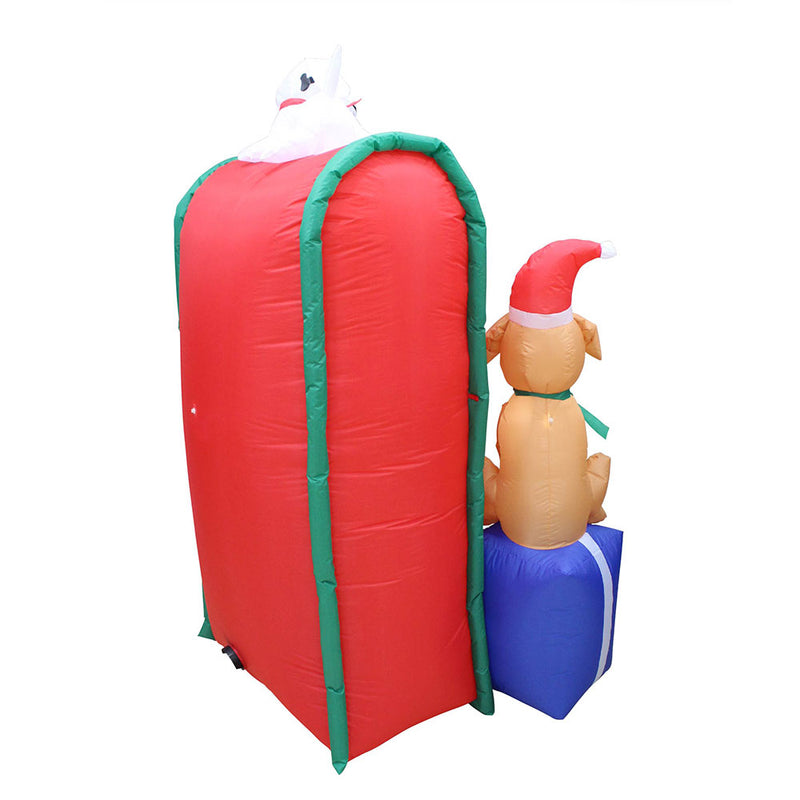 Inflatable Yard Christmas Decoration, Letters for Santa Mailbox - 6' Tall - 3' Wide - Impact Canopies USA