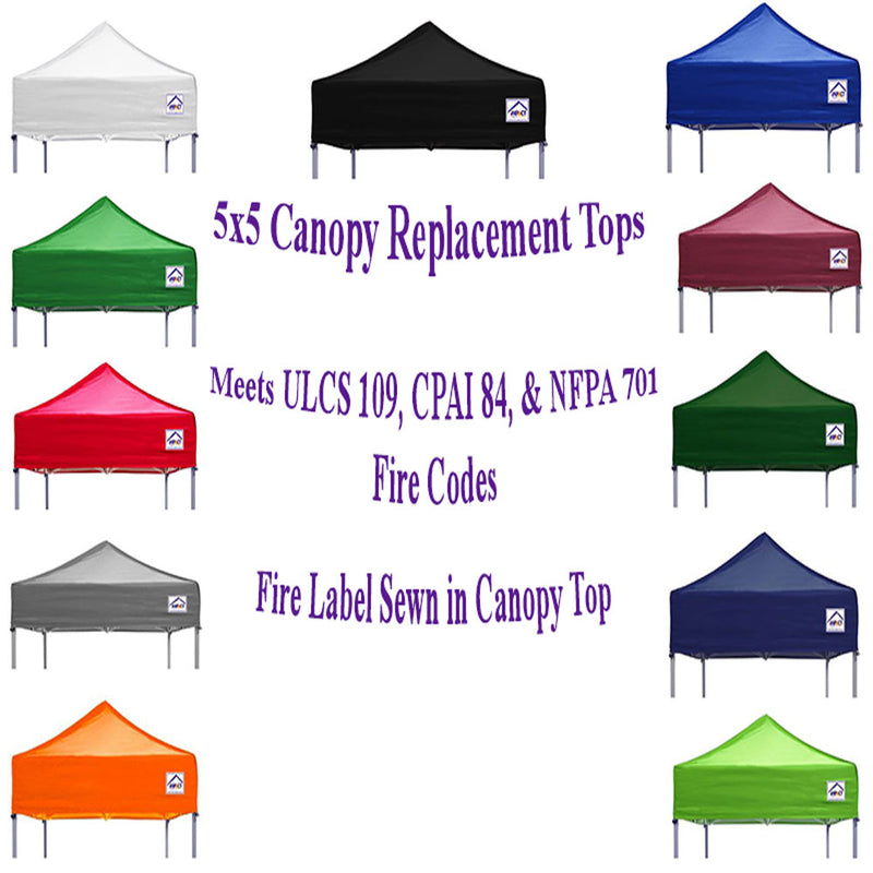 5x5 Pop Up Canopy Tent Replacement Top