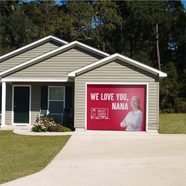 Breast Cancer Awareness One Car Garage Door Banner