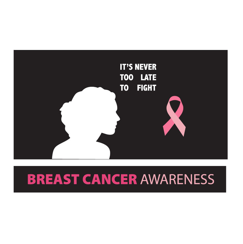 Never Too Late Breast Cancer Awareness 10x10 DS Canopy
