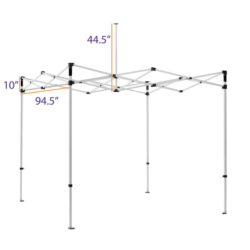 8X8 Industrial Steel Pop up Canopy Replacement Frame - DS