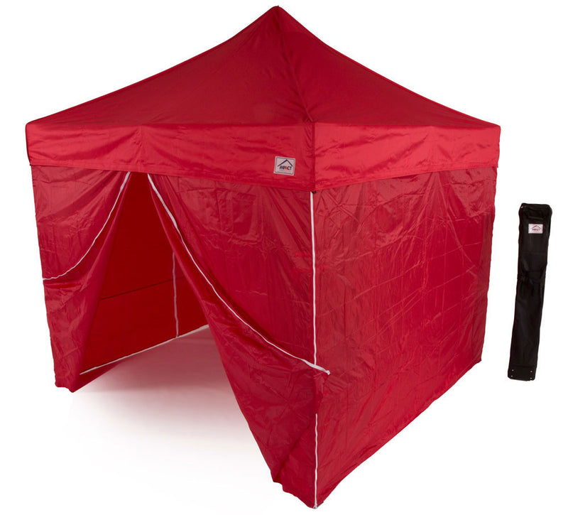 10x10 Recreational Grade Aluminum Pop up Canopy Tent with SIDEWALLS