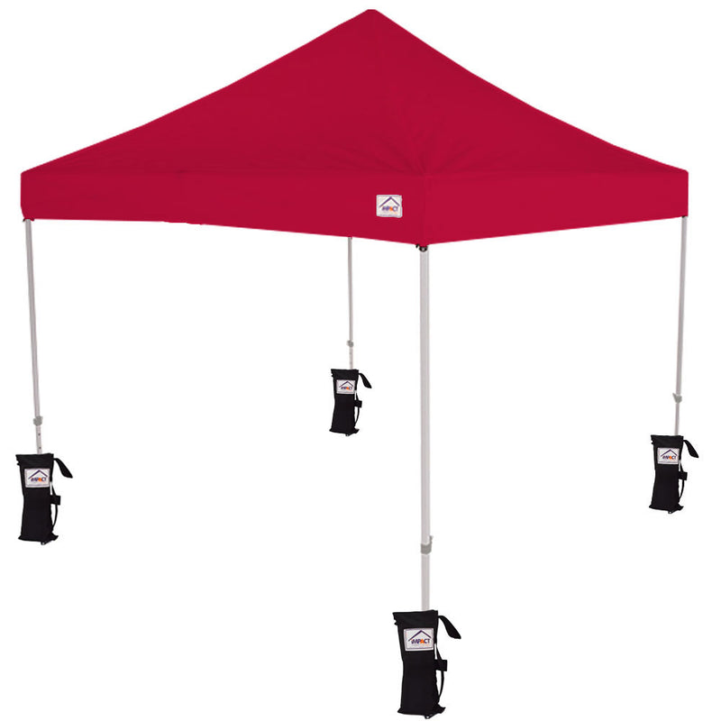 10x10 AOL Aluminum 10x10 Pop up Canopy Tent with Sidewalls and Weight Bags - Impact Canopies USA