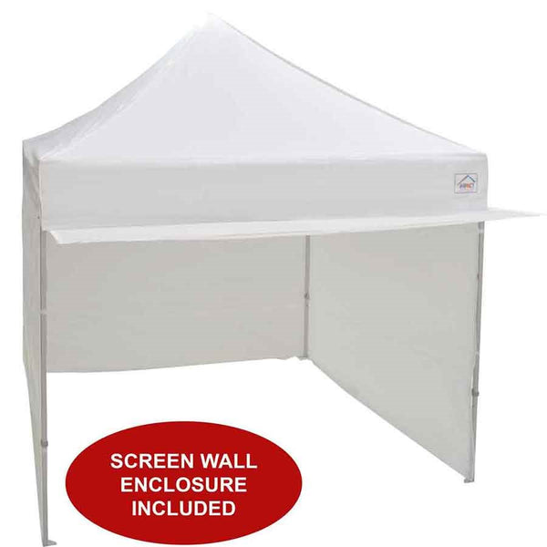 10x10 Alumix Pop up Canopy Tent with Sidewalls and Screen Room Mosquito Netting - Impact Canopies USA