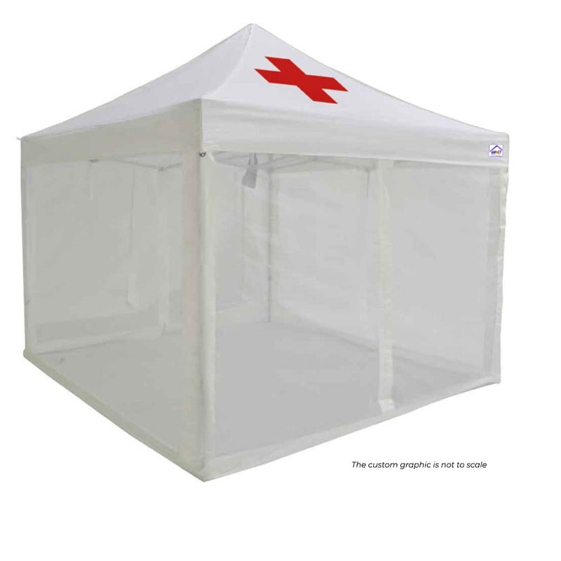 10x10 ALUMIX Emergency Response Shelter with Medical Wall - Impact Canopies USA