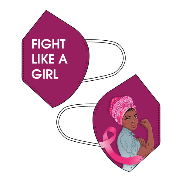 Fight Like a Girl - Breast Cancer Awareness KN95 Mask
