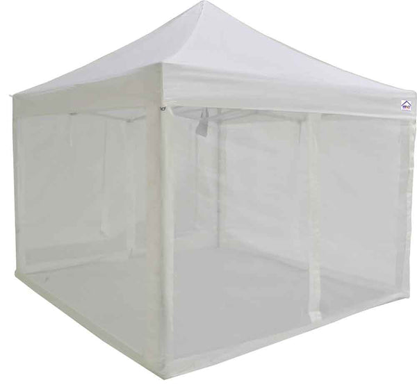 10x10 ALUMIX Emergency Response Shelter with Sidewalls and Screen Walls - Impact Canopies USA