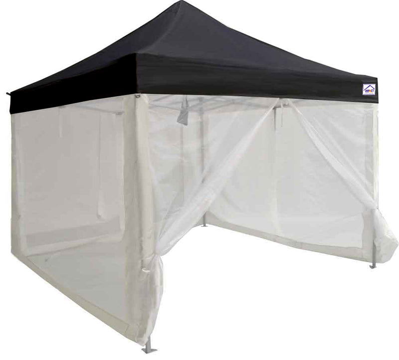 10x10 ALUMIX Pop up Canopy Tent Market Canopy with Sidewalls and Screen Walls - Impact Canopies USA