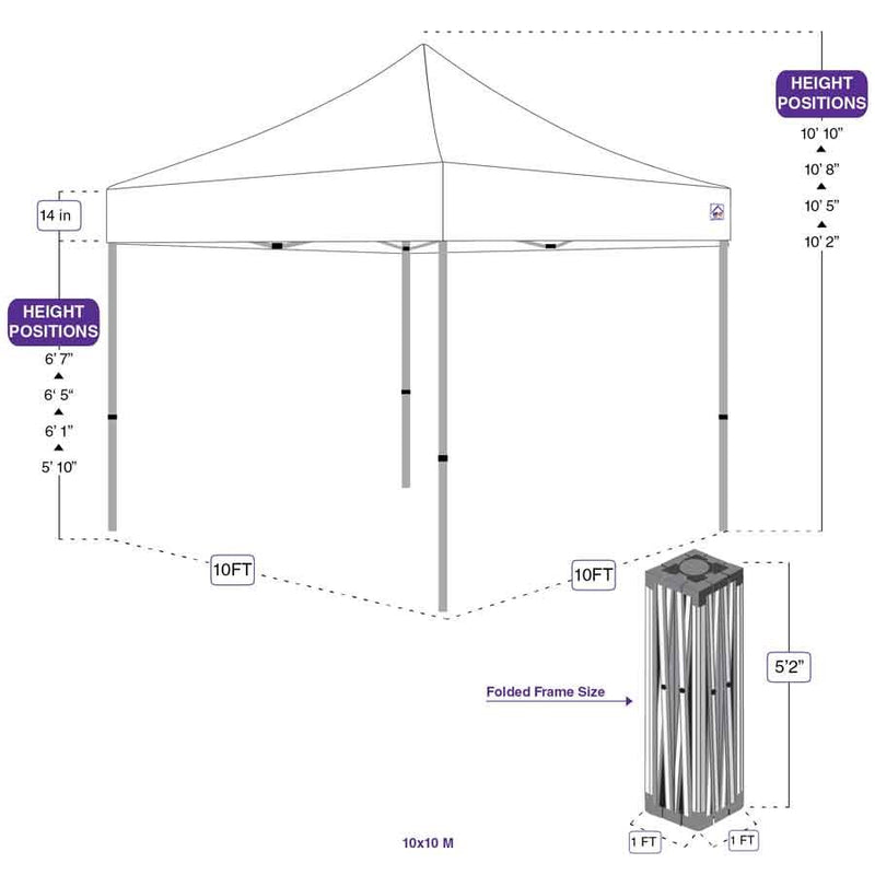 M-10x10 Pop up Canopy Tent Aluminum Commercial Grade - Impact Canopies USA