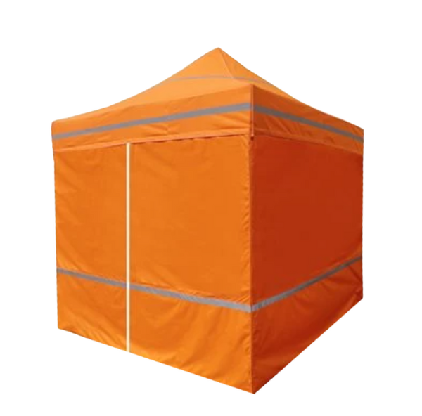 5x5 Industrial Steel Caution Kit Pop Up Canopy - DS