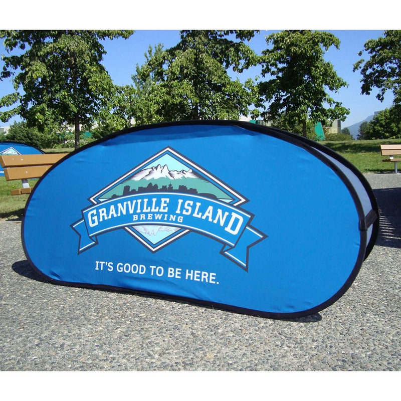 Horizontal A-Frame Spring Sign - Full Digital Printing - Impact Canopies USA