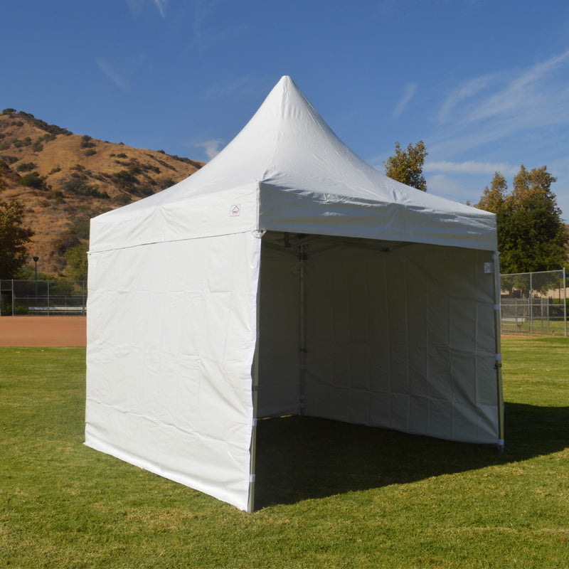 10x10 Heavy Duty Folding High Peak Marquee Canopy Tent - 100% Waterproof PVC Fabric - With Sidewalls - Impact Canopies USA
