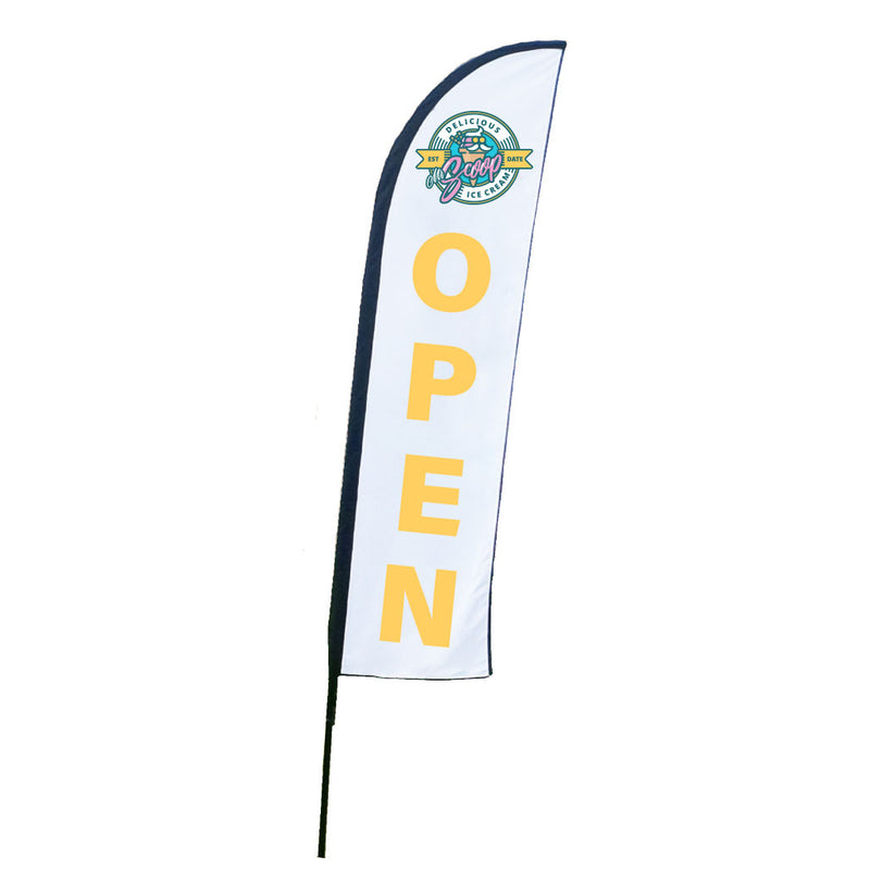 Custom Open Wing Flag With Your Logo
