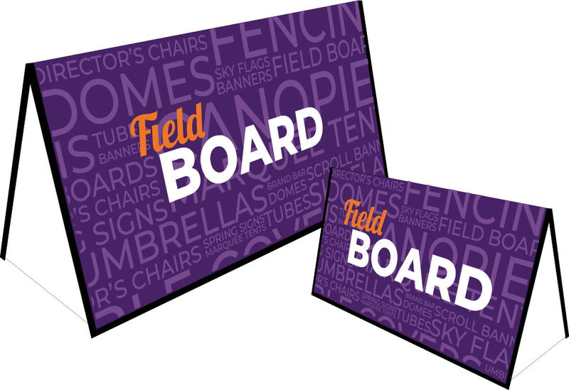 Matte Display Fieldboard Sign - Includes Carry Bag