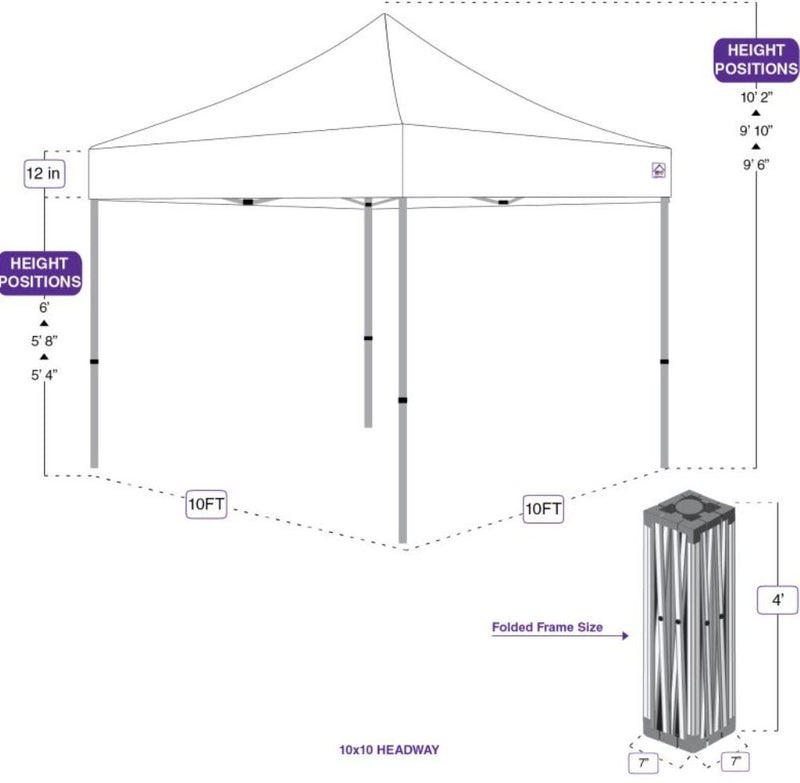 10x10 Pop Up Canopy Tent HW Kit - Impact Canopies USA
