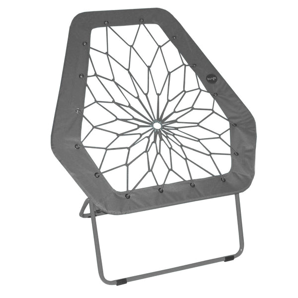 Hex Bungee Chair, Portable Folding Chair, Gray - Impact Canopies USA