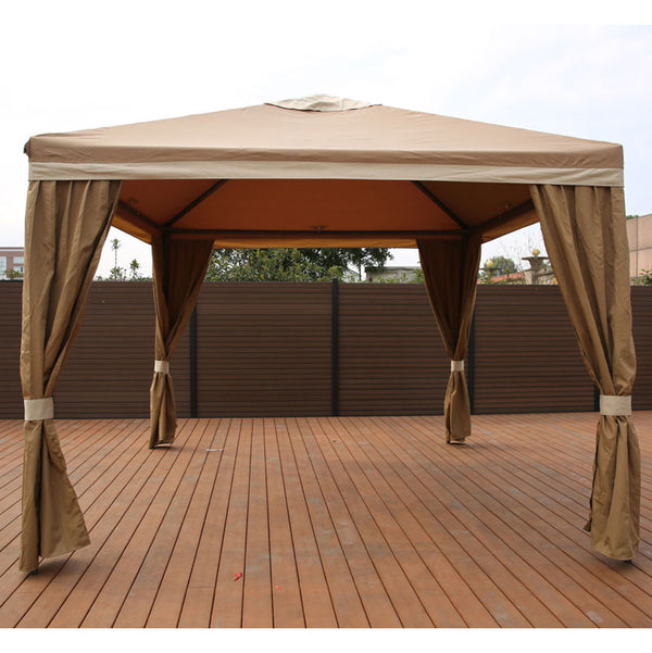 10X10 Gazebo Screen House TAN - Impact Canopies USA