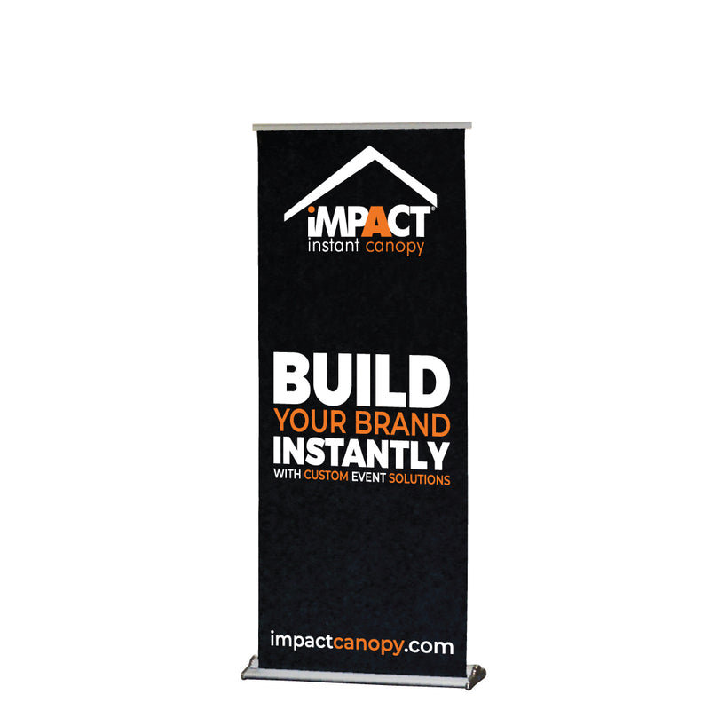 "Custom Personalized Retractable Roll up Banner 33""x79"" - Carry Bag Included"