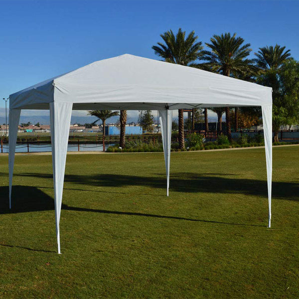 10'x10' EZ Pop Up Canopy Outdoor Dressed Leg Wedding Party Tent Folding Gazebo