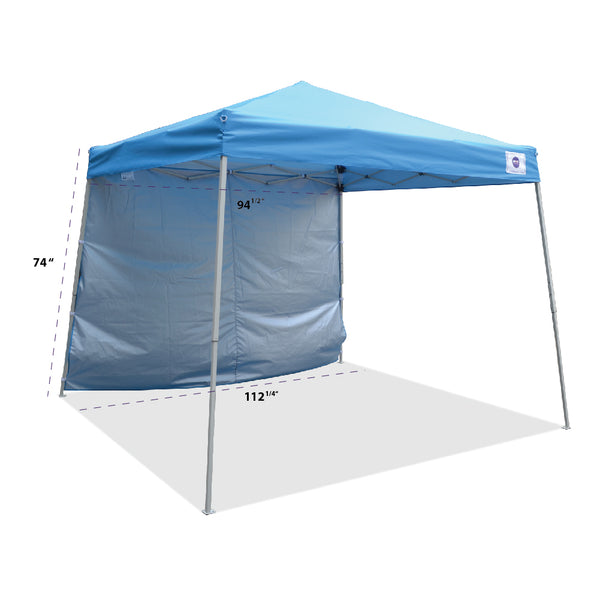 10'x10' Pop Up Canopy Outdoor Slant Leg Tent Folding Gazebo w/ Sun Wall - Impact Canopies USA