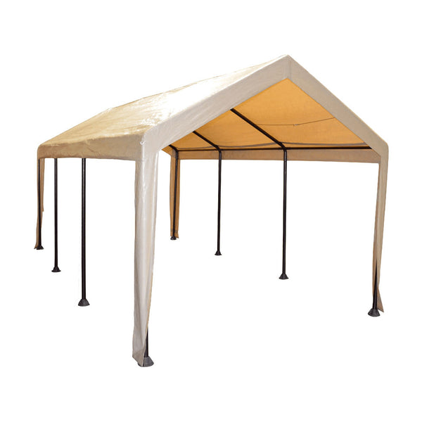 10x20 (8) Leg Portable Carport Outdoor Party Sun Shade Shelter - TAN - Heavy Duty