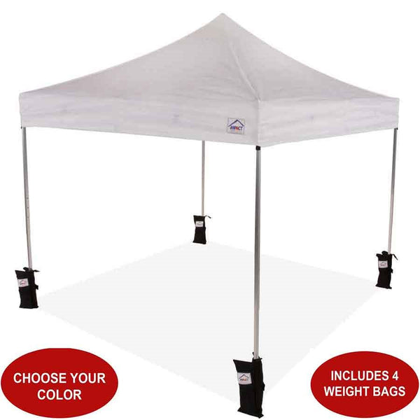 10x10 ULA Lightweight Aluminum Beach Canopy with Weight Bags - Impact Canopies USA