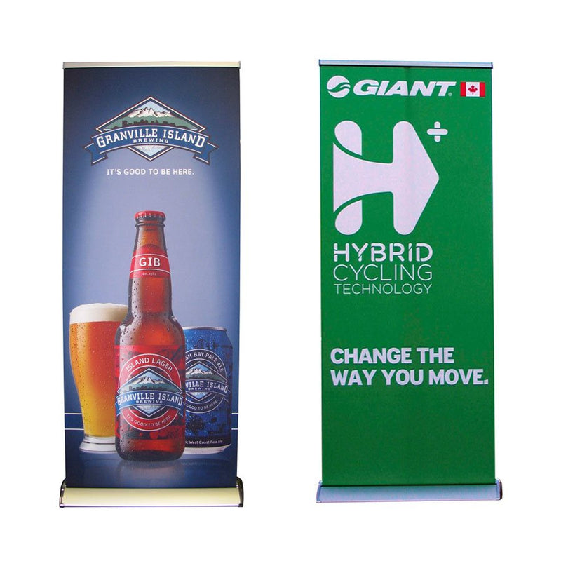 "Personalized Retractable Roll up Banner 33""x79"" - Carry Bag Included - Impact Canopies USA"